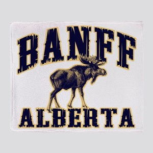 Banff Moose Throw Blanket