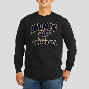 Banff Moose Long Sleeve Dark T-Shirt