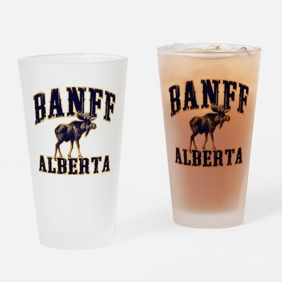 Banff Moose Drinking Glass