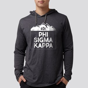 Phi Sigma Kappa Mountains Mens Hooded T-Shirts