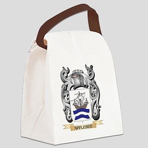Applebee Family Crest - Applebee Canvas Lunch Bag