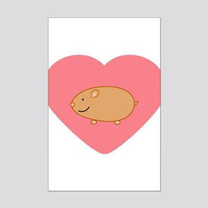 Hamster Mini Poster Print