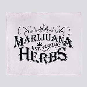 Herbs Throw Blanket