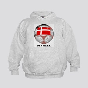 Denmark soccer Kids Hoodie