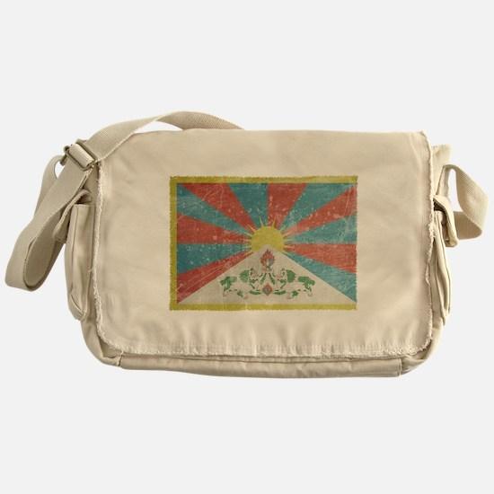 Vintage Tibet Flag Messenger Bag