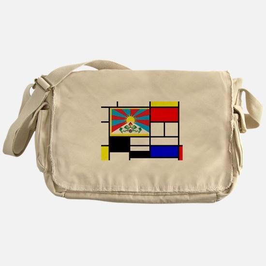 Pop Art Tibet Flag Messenger Bag