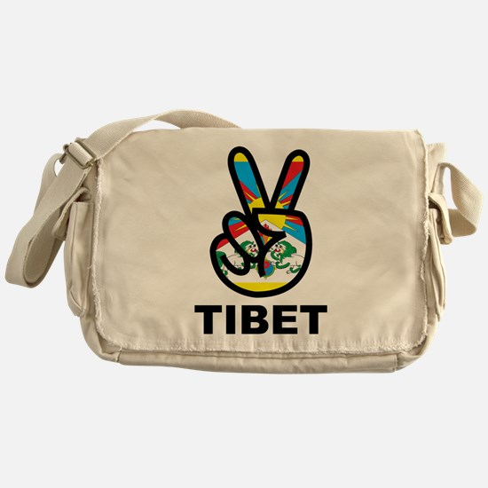 Peace In Tibet Messenger Bag