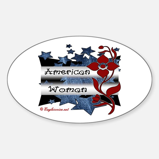 Funny Patriotic women Sticker (Oval)