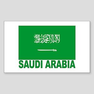 Saudi Arabia Flag Rectangle Sticker