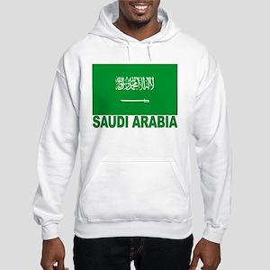 Saudi Arabia Flag Hooded Sweatshirt