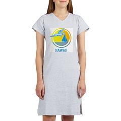 Retro Hawaii with Seagull Women's Nightshirt