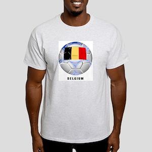 Belgium soccer Ash Grey T-Shirt