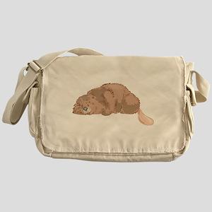 Cute Beaver Messenger Bag