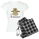 I Love Beavers Women's Light Pajamas