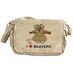 I Love Beavers Messenger Bag