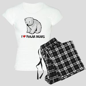 I Love Polar Bears Women's Light Pajamas