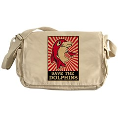 Save The Dolphins Messenger Bag