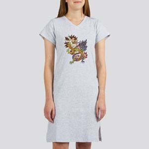 Colorful Chinese Dragon Women's Nightshirt