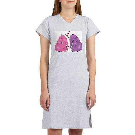 Elephants In Love Women's Nightshirt