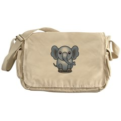 Cute 3D Elephant Messenger Bag