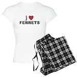 I Love Ferrets Women's Light Pajamas