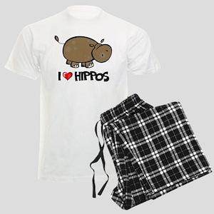 I Love Hippo Men's Light Pajamas