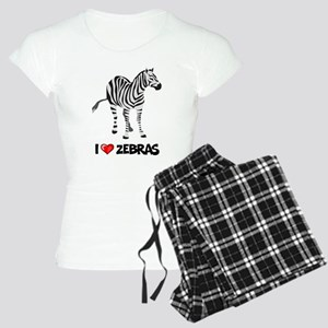 I Love Zebras Women's Light Pajamas