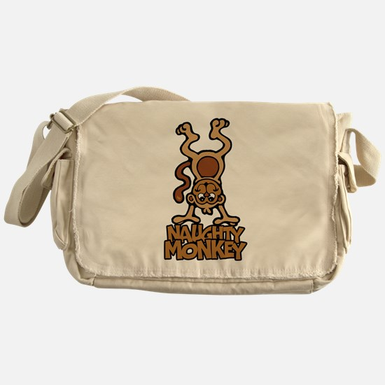 Naughty Monkey Messenger Bag