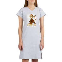 Cute 3D Monkey Women's Nightshirt