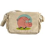 Happy Pig Messenger Bag