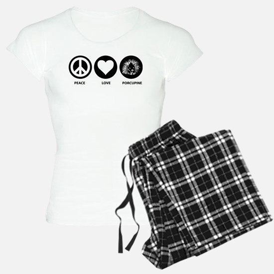 Peace Love Porcupine Pajamas