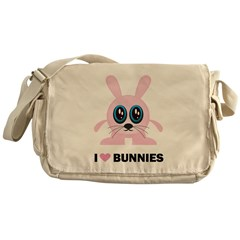 I Love Bunnies Messenger Bag