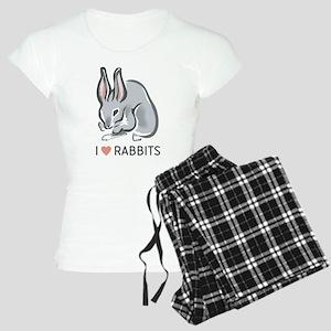 I Love Rabbits Women's Light Pajamas