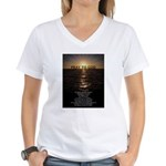 Our Father Prayer Women's V-Neck T-Shirt