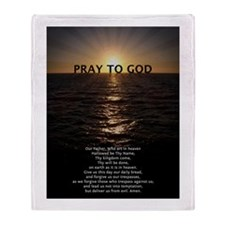 Our Father Prayer Throw Blanket