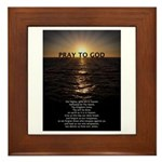 Our Father Prayer Framed Tile