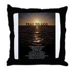 Our Father Prayer Throw Pillow