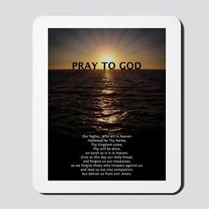 Our Father Prayer Mousepad