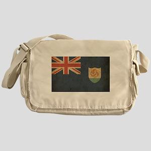 Vintage Anguilla Flag Messenger Bag