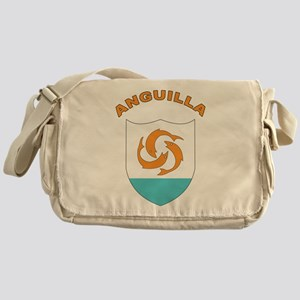 Stylized Anguilla Messenger Bag