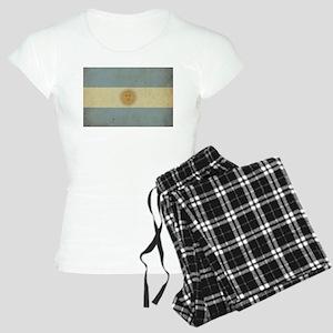 Vintage Argentina Flag Women's Light Pajamas