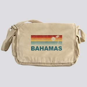 Retro Bahamas Palm Tree Messenger Bag