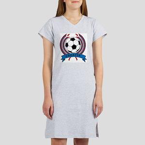 Soccer Croatia Women's Nightshirt