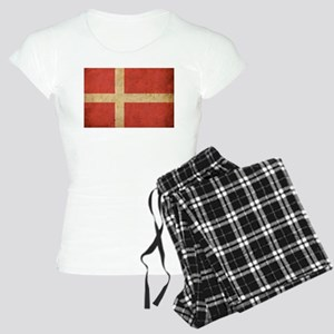 Vintage Denmark Flag Women's Light Pajamas