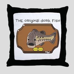 Dork Fish Throw Pillow