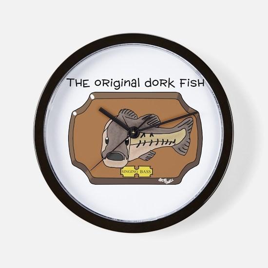 Dork Fish Wall Clock