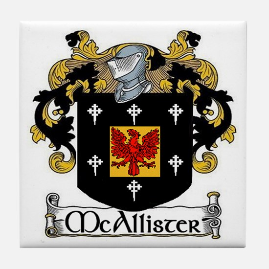McAllister Coat of Arms Tile Coaster