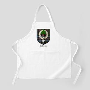 Anderson Clan Crest Tartan BBQ Apron