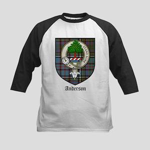Anderson Clan Crest Tartan Kids Baseball Jersey