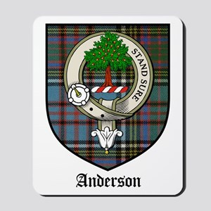 Anderson Clan Crest Tartan Mousepad